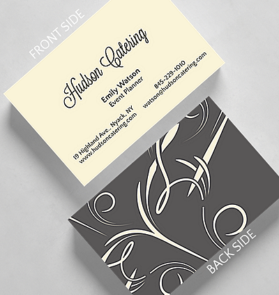 Upload your completed design horizontal business card credit card elegant swirls business card credit card size colourmoves
