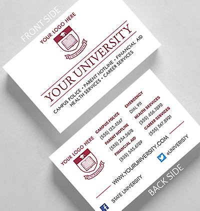 University business card standard size 1027825 business christmas university business card credit card size reheart Gallery
