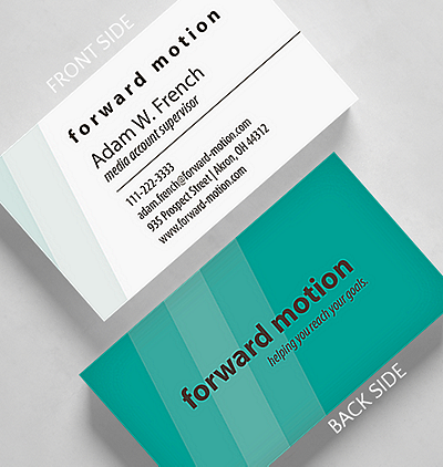 Modern fresh business cards the gallery collection vertical shades business card standard size reheart Images