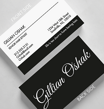 Modern fresh business cards the gallery collection stark script business card standard size reheart