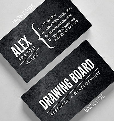 bracketed business card standard size