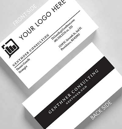 Modern fresh business cards the gallery collection center bar business card standard size reheart Gallery