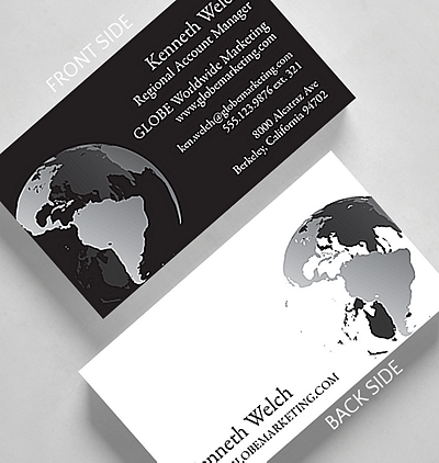 Traditional business cards the gallery collection global business card standard size colourmoves