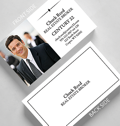 Photos logos business cards the gallery collection borderline business card standard size colourmoves
