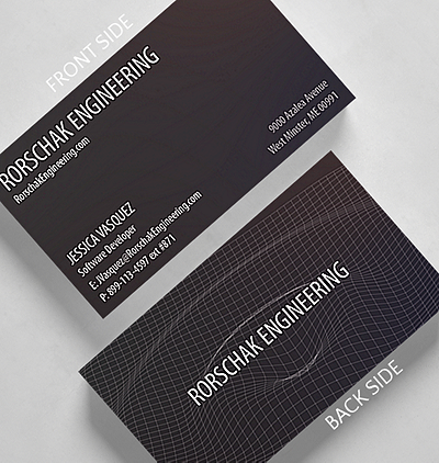 Traditional business cards the gallery collection waveform business card standard size reheart Choice Image