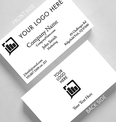 Photos logos business cards the gallery collection business basics photo and logo h2 business card standard size reheart Gallery