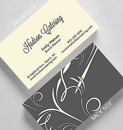 Browse all business cards the gallery collection elegant swirls business card standard size reheart Images
