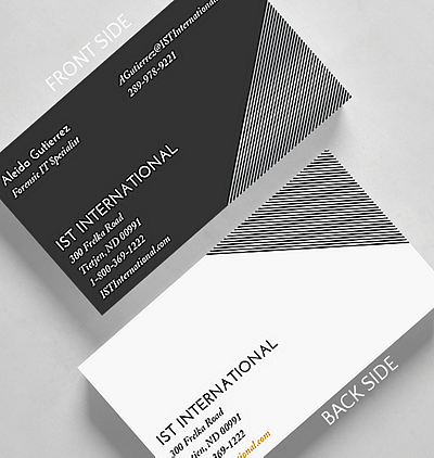 Traditional business cards the gallery collection at an angle business card standard size reheart Gallery