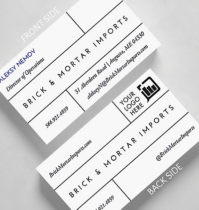 Modern classic business card credit card size 1027546 business bricks business card standard size reheart Gallery