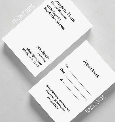 Business basics appointment v1 business card standard size 1027681 business basics appointment v1 business card credit card size colourmoves