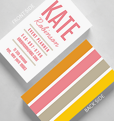 Trendy business cards the gallery collection bold bars business card standard size colourmoves