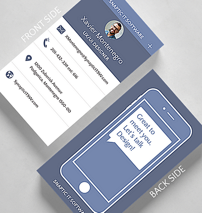 Trendy business cards the gallery collection mobile business card standard size reheart Gallery