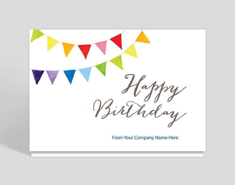 Happy Birthday Banner Card - Business Birthday