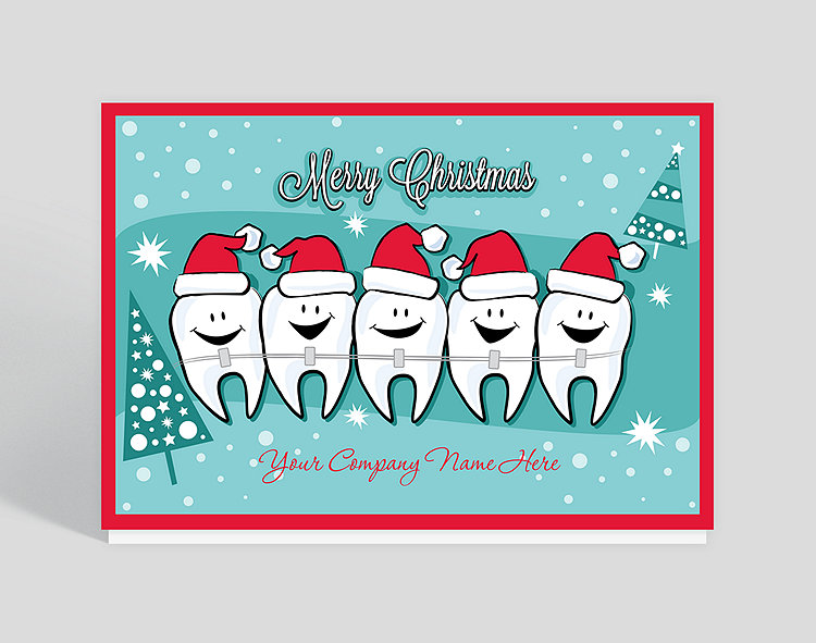 Happy Teeth Christmas Card 1023530 on office greeting