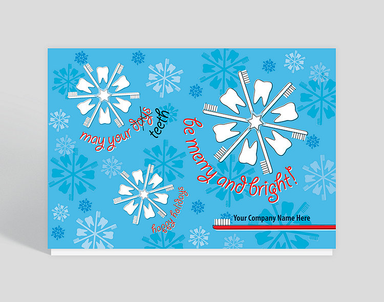 dental flakes holiday card click to view larger