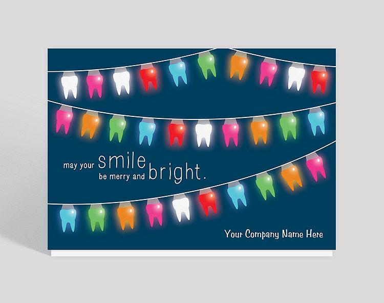 Teeth Lights Christmas Card - Greeting Cards