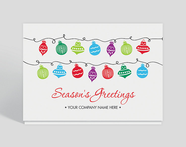 Seasons greetings ornaments card 1023613 business christmas cards seasons greetings ornaments card click to view larger m4hsunfo