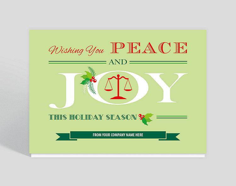 wishing you peace and joy holiday card 1023678 business christmas