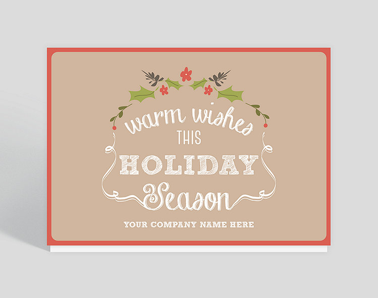 Company Christmas Cards.Ribbons And Holly Christmas Card 1023824 Business Christmas Cards