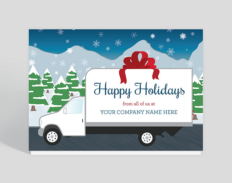 Box truck wishes christmas card 1023937 business christmas cards box truck wishes christmas card click to view larger reheart Images