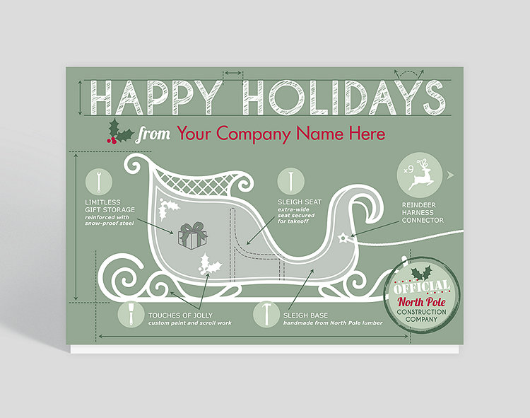 Holiday blueprints christmas card 1025554 business christmas cards holiday blueprints christmas card click to view larger reheart Images