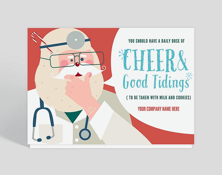 doctor santa holiday card click to view larger - Santa Cards