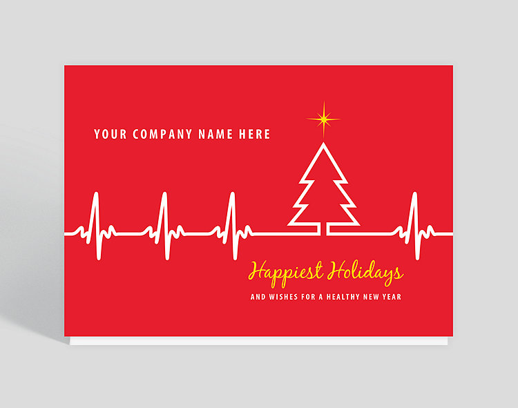 Ekg tree holiday card 1025699 business christmas cards ekg tree holiday card click to view larger reheart Image collections