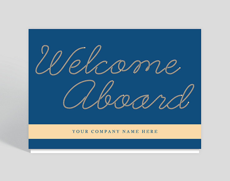 Welcome aboard welcome card 1027766 business christmas cards welcome aboard welcome card click to view larger m4hsunfo