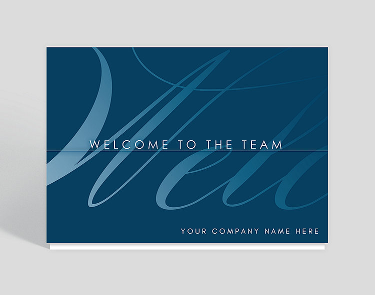 Welcome cards the gallery collection welcome to the team welcome card m4hsunfo