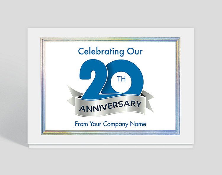 Celebrating Our 20th Anniversary Card 1027786 Business Christmas Cards