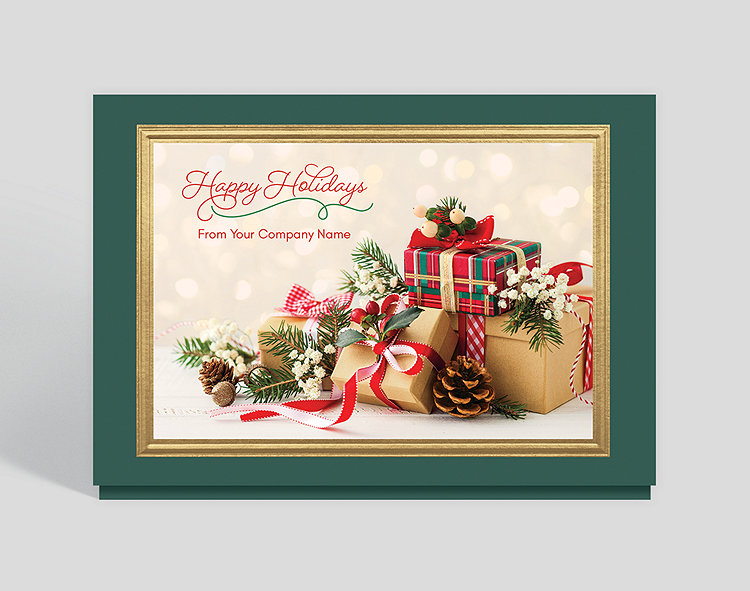 Business Christmas Cards.Plentiful Presents Christmas Card 1027925 Business Christmas Cards