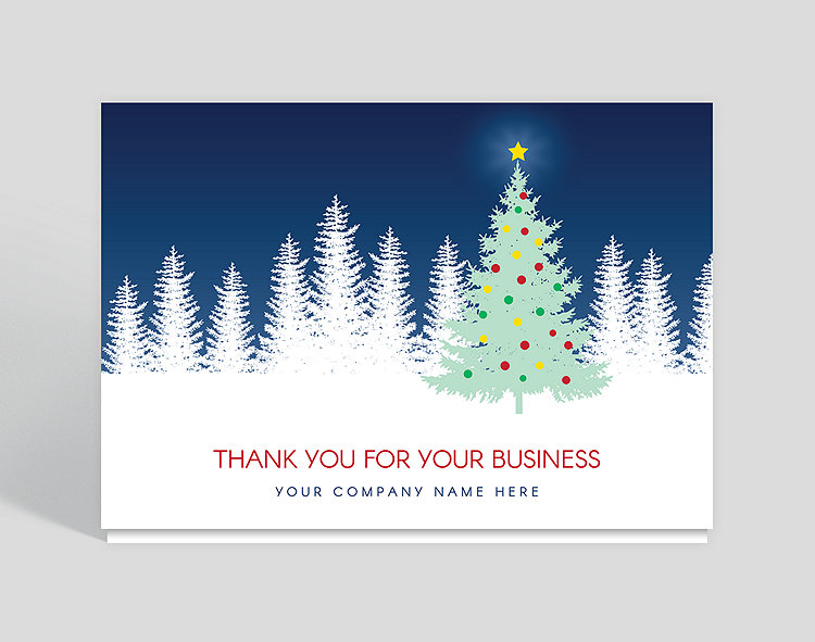 Evening star thank you christmas card 1028012 business christmas evening star thank you christmas card colourmoves