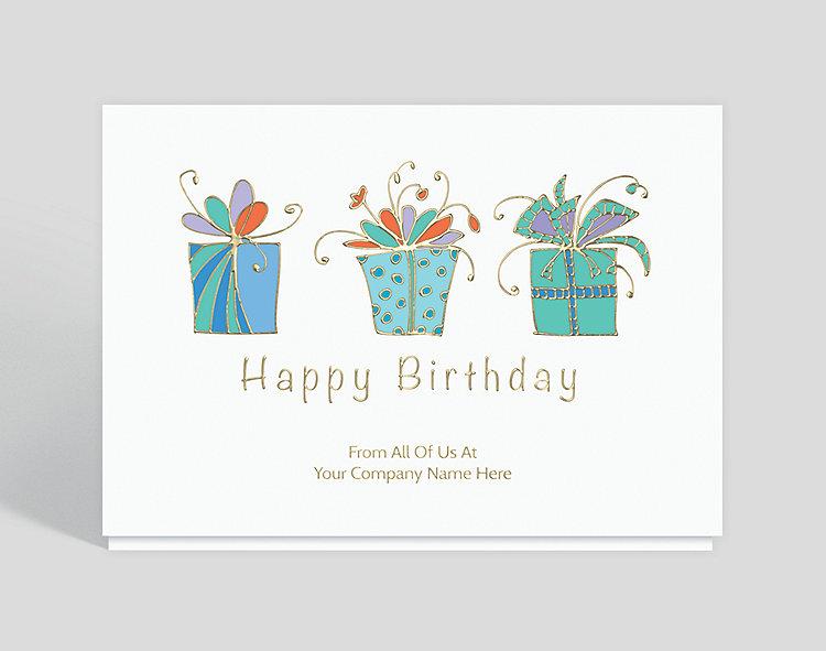 Triple Birthday Wish Card, 1028086 - Business Christmas Cards