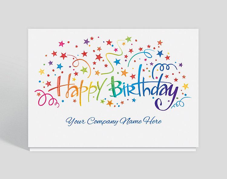 happy birthday burst card 1028087  business christmas cards