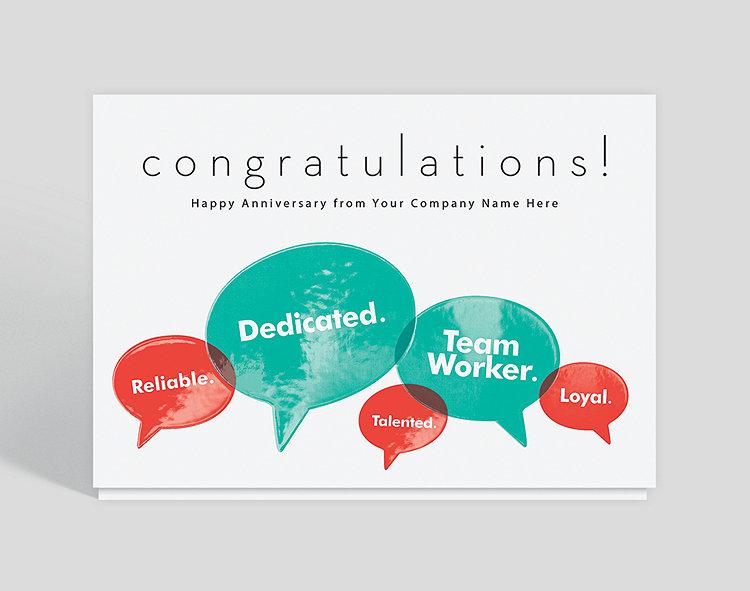 Enhanced Word Balloon Congratulations Card 1028090 Business