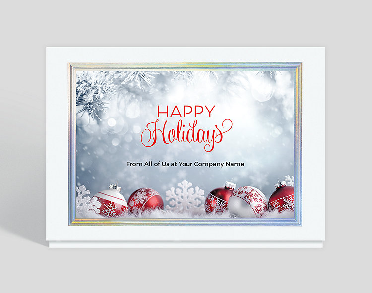 Business Christmas Cards.Frosty Holiday Trim Christmas Card 1028191 Business Christmas Cards