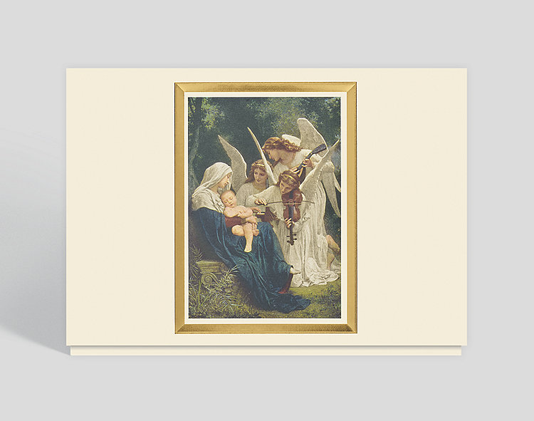 Song Of The Angels Holiday Card - Religious Christmas Cards