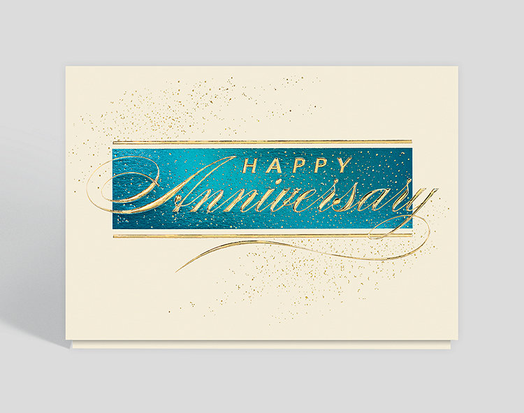 Anniversary Stardust Greeting Card