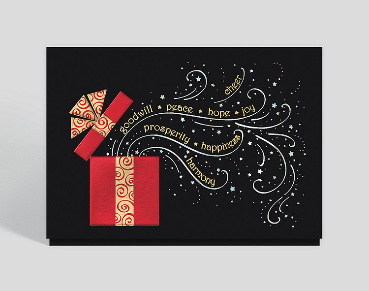 elegant holiday surprise card click to view larger - Elegant Christmas Cards
