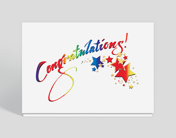 Sparkling Congratulations Card, 300041 - Business ...