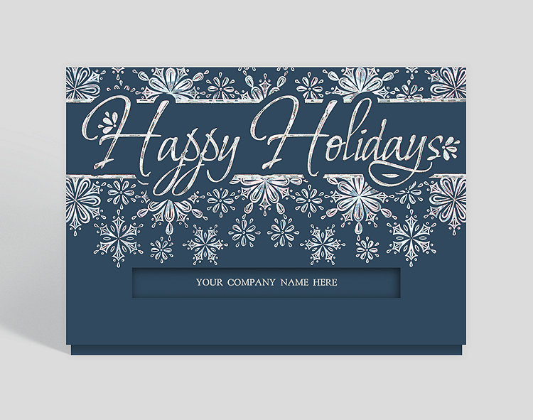 Glistening snowflakes christmas card 300049 business christmas cards glistening snowflakes christmas card click to view larger reheart Images