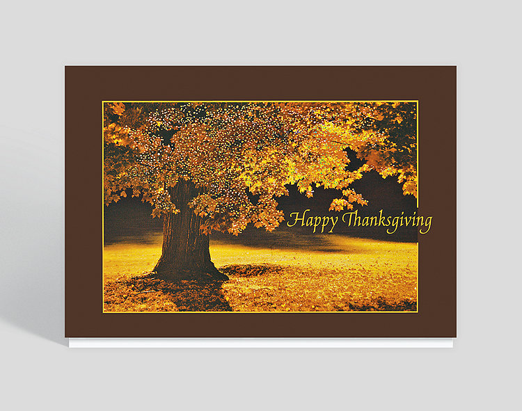 Thanksgiving Glow Greeting Card - Thanksgiving Cards