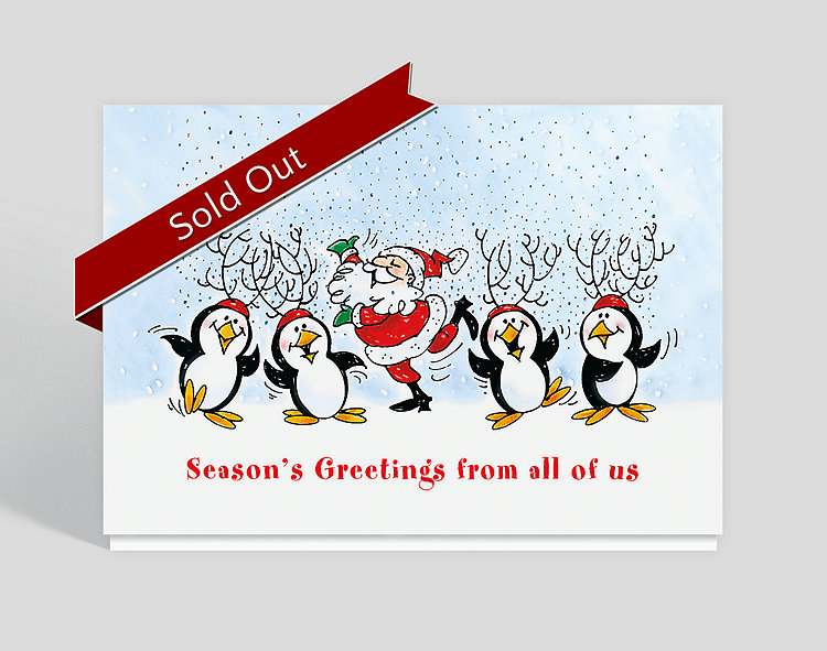 Winter Frolic From All of Us Holiday Card