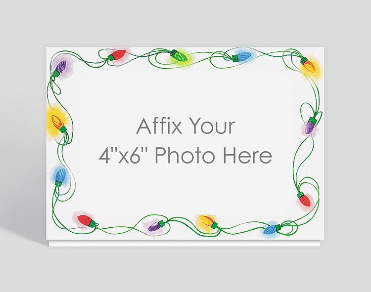 Holiday Lights Photo Card - Photo Cards