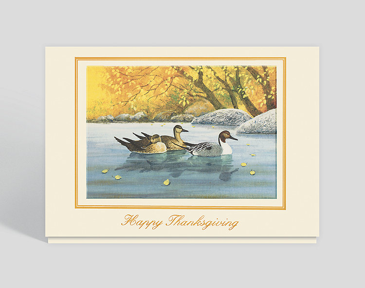 Fall Reflections Thanksgiving Card - Thanksgiving Cards