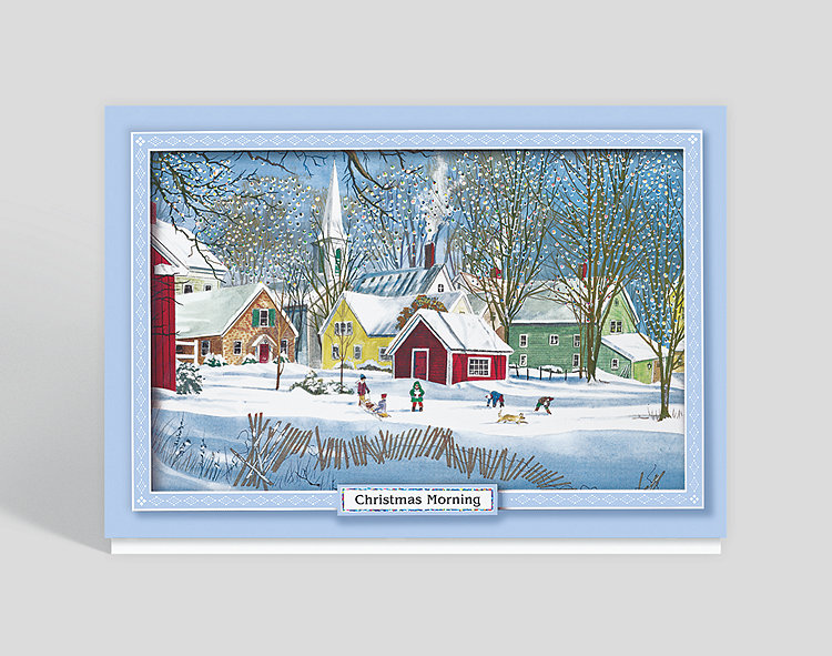 Christmas Morning Card - Wholesale Christmas Cards
