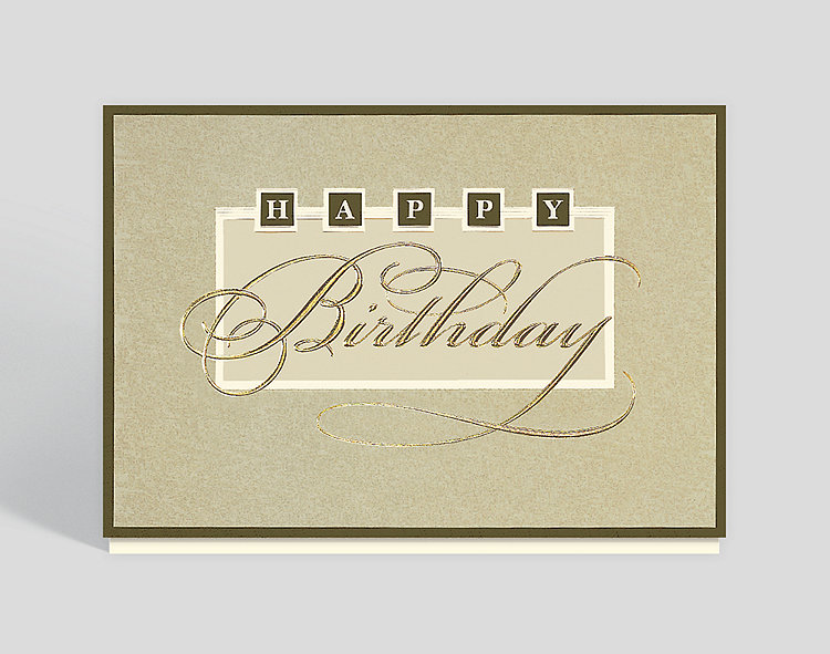 Elegant birthday wishes greeting card 300145 business christmas cards elegant birthday wishes greeting card click to view larger front open m4hsunfo