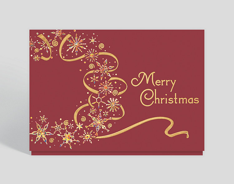 Dazzling Christmas Wreath Card - Christmas Cards