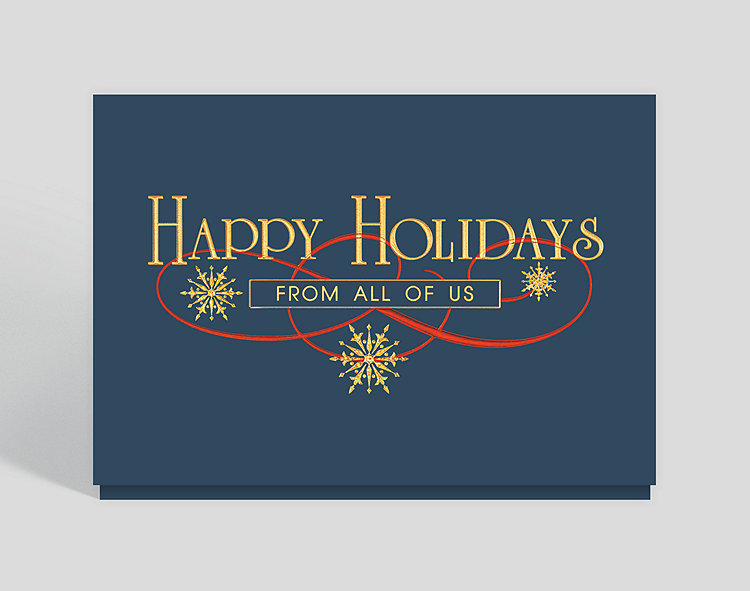 Holiday wishes from all of us card 300151 business christmas cards click to view larger m4hsunfo