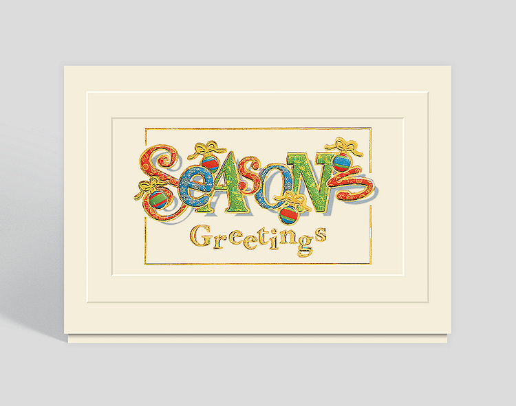 Festive Greetings Seasons Greetings Card - Business Christmas Cards